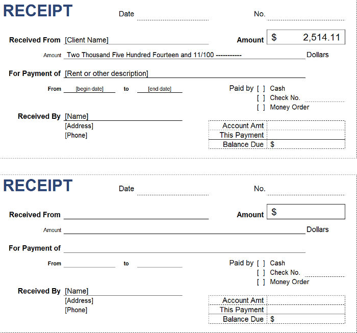 Free Petty Cash Receipt Templates InvoiceBerry - payment received receipt template