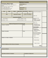 Car Sales Invoice Template Free Download | invoice example