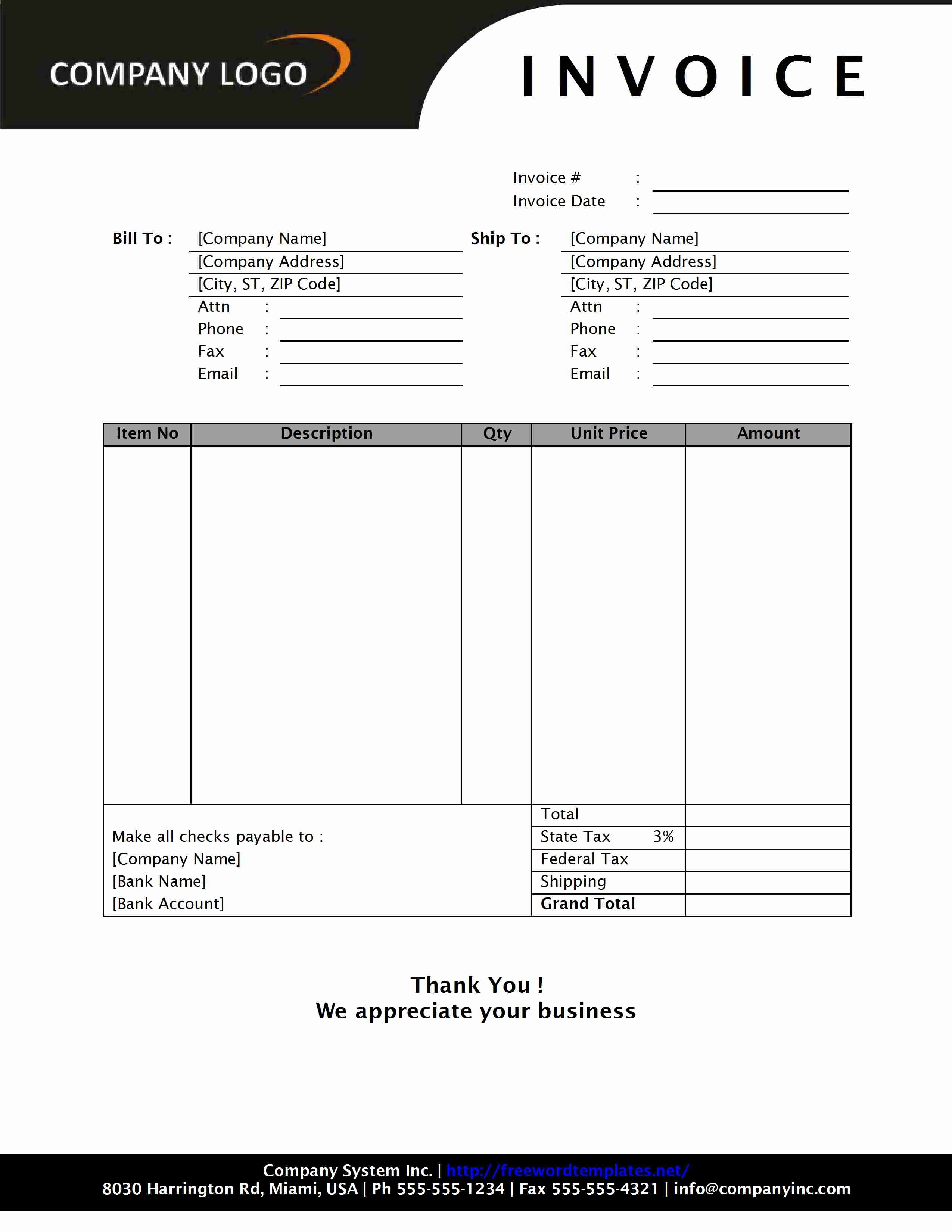 Sales Invoice Templates 27 Examples In Word And Excel Cash Invoice Template Invoice Example