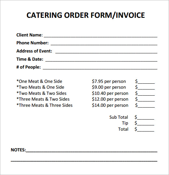 Sample Quote Sheet Quotation Form Quotation Form KakTak Tk Event - catering quotation sample