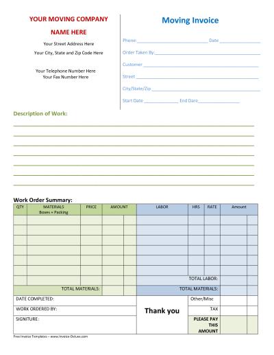 Company Invoice Template | invoice example