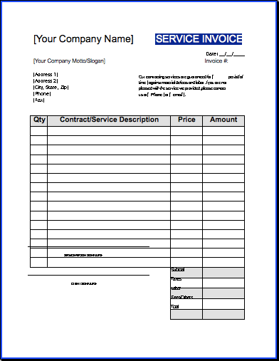 Blank Spreadsheet Template 21 Free Word Excel Pdf Contractor Invoice Template Uk Invoice Example