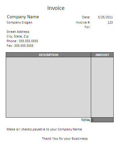 Free Independent Contractor Invoice Template Excel PDF Word