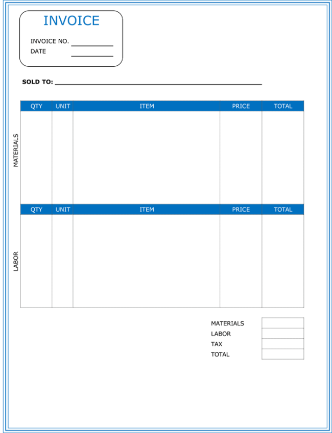 Free Invoice Templates Sample Invoices Created In Ms Contractor Invoice Template Word Invoice Example