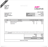 Deposit Invoice Template | invoice example
