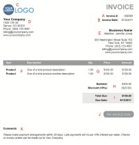 Electronic Invoice Template | invoice example