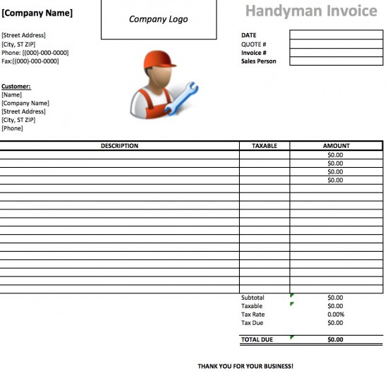 Handyman Invoice Template Invoice Example Tempo Docs Page 3 Of 102