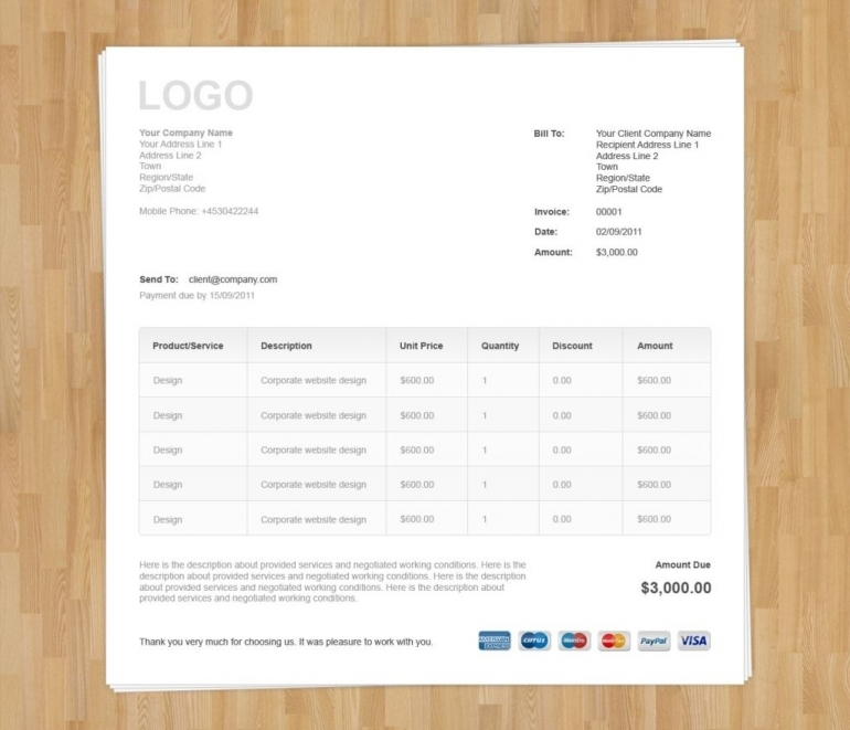 Invoice Template Bootstrap invoice example - invoice template generator
