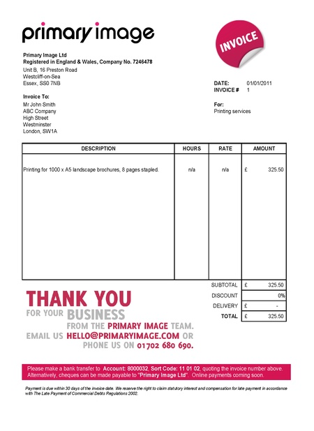 sample invoice template uk - zrom
