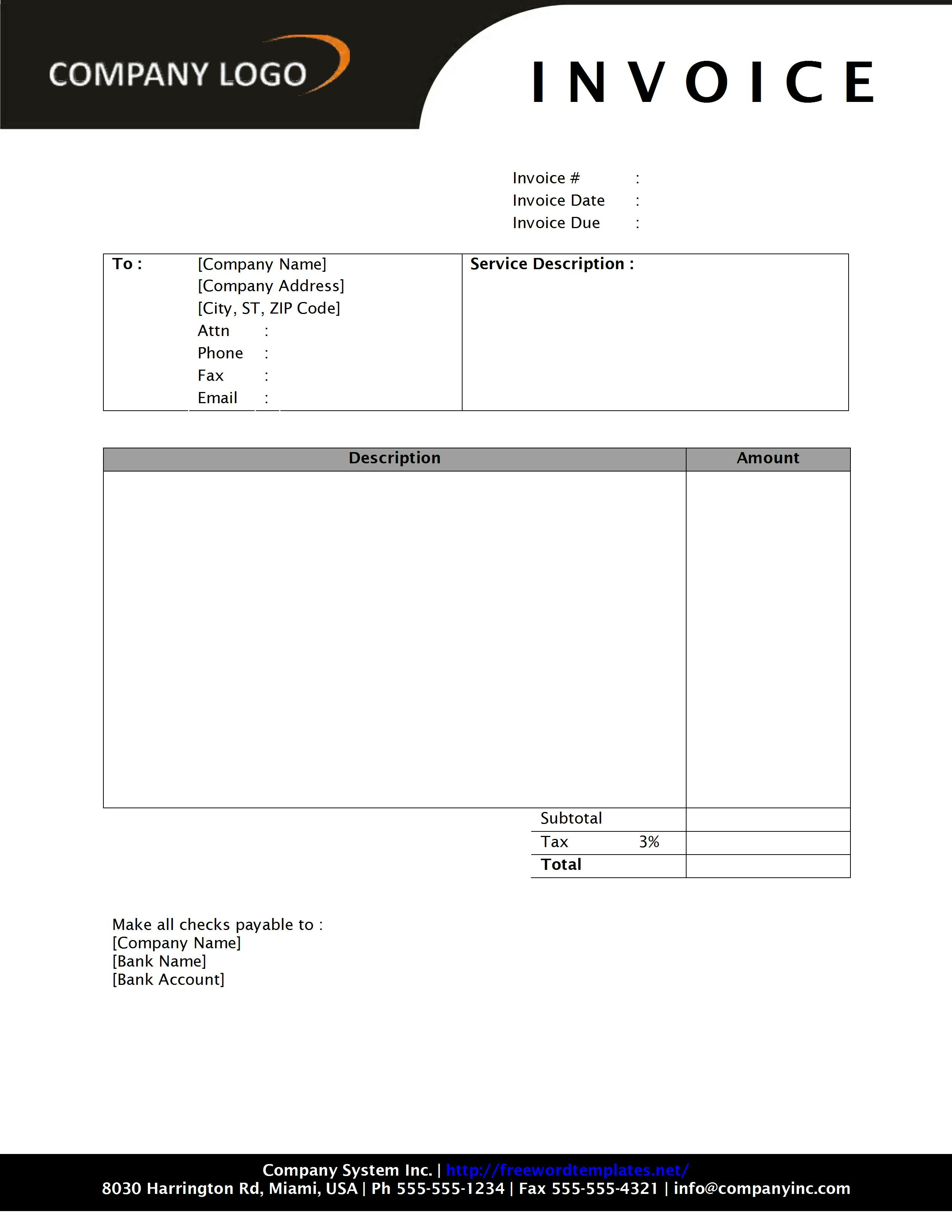 microsoft office 2007 invoice templates download