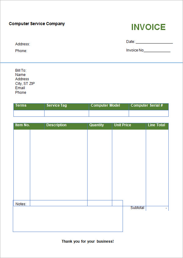 word invoice templates the-links