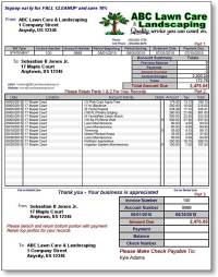 Landscaping Invoice Template Word | invoice example