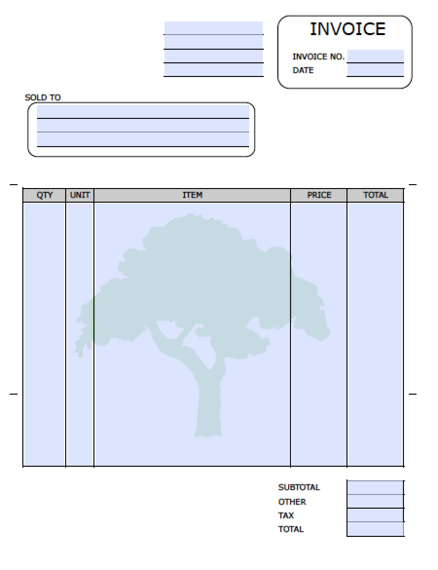 invoice template for word 2003