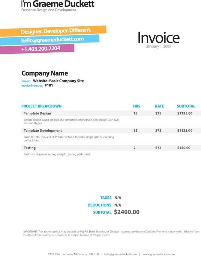 Pages Invoice Template invoice example - invoice template generator