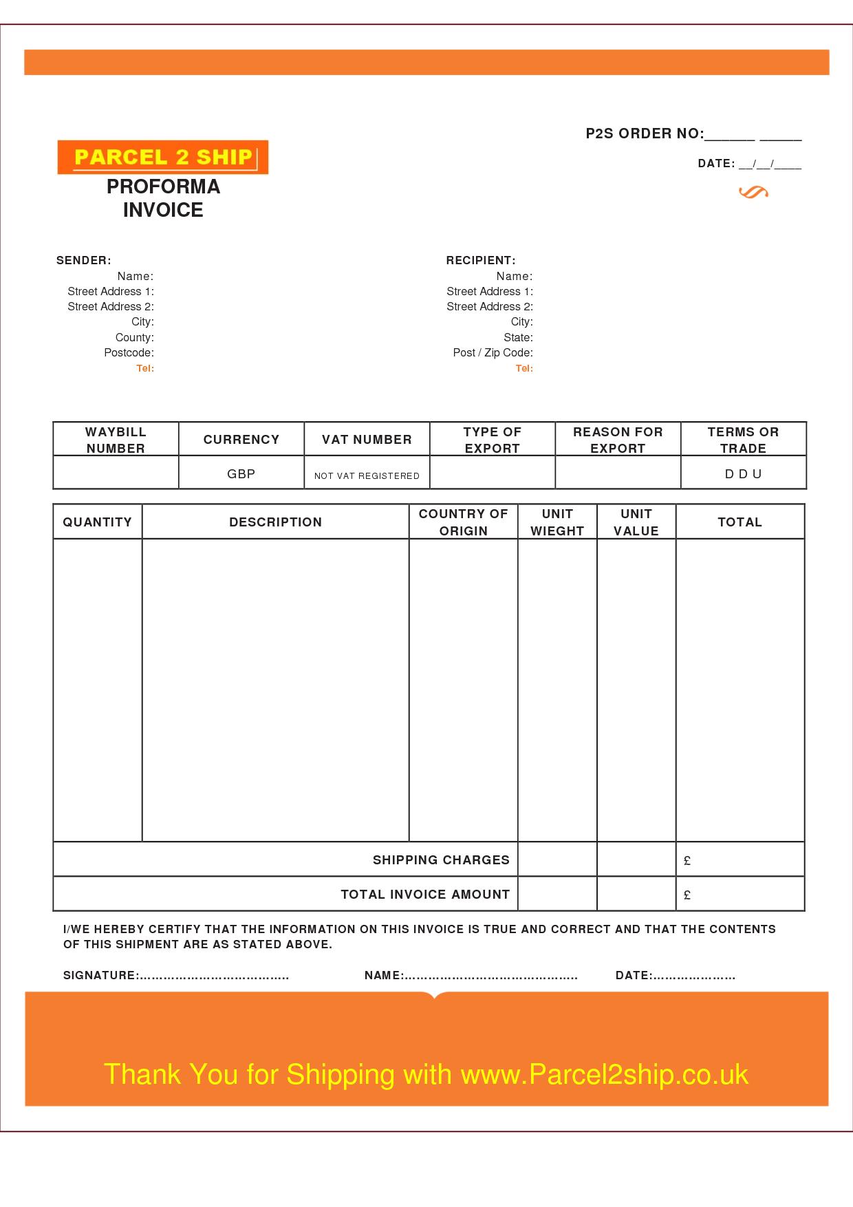 Word 2007 Templates Microsoft Word Templates Proforma Invoice Template Pdf Invoice Example