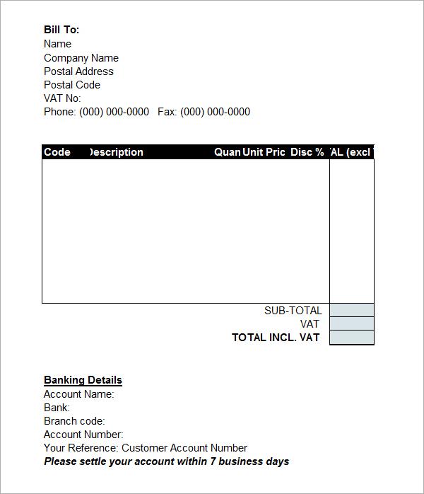 invoice template word document trattorialeondoro