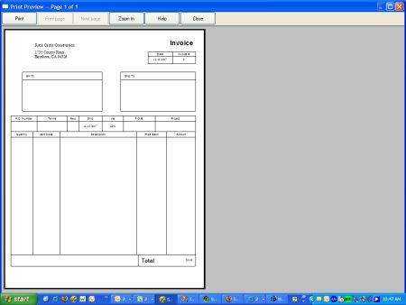 Quick Invoice Template invoice example
