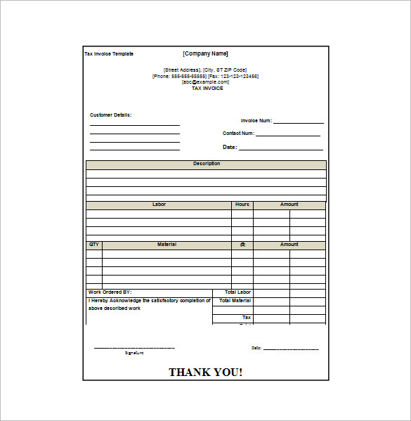 Receipt Invoice Template invoice example - Invoice Draft