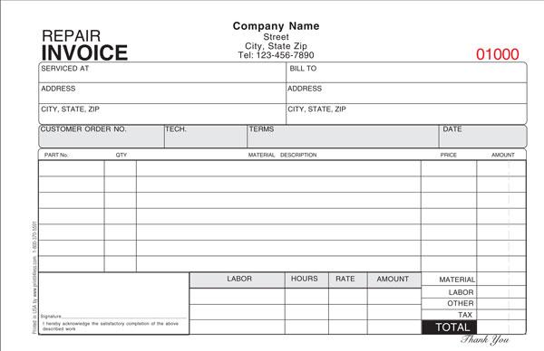 Repair Invoice Template invoice example - auto repair invoice templates