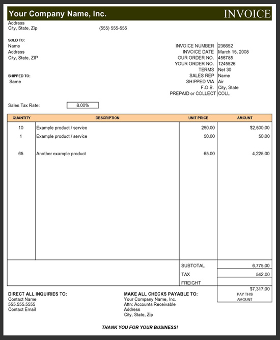 My Work Made In England Page 2 Commercial Invoice Office Templates