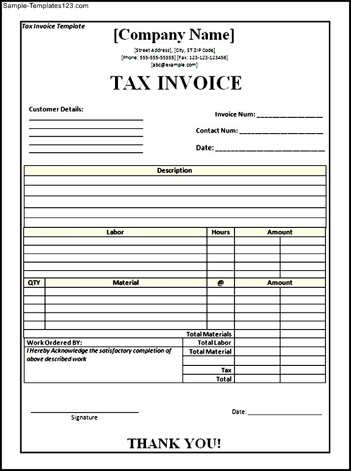 tax invoice template doc - Maggilocustdesign