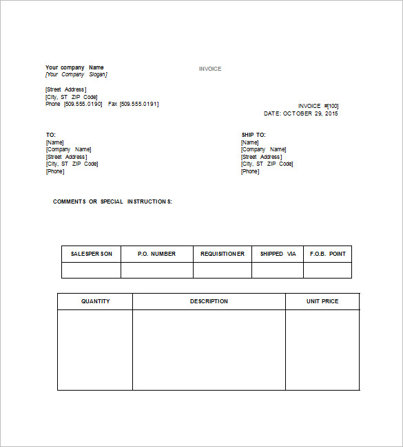 25 Free Service Invoice Templates Billing In Word And Excel Auto
