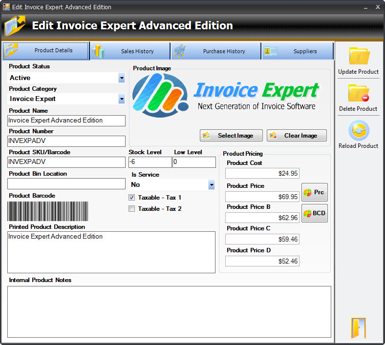 Inventory Control Software by Invoice Expert