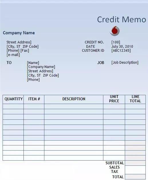 What is Memo Invoice gatechien - debit memo template