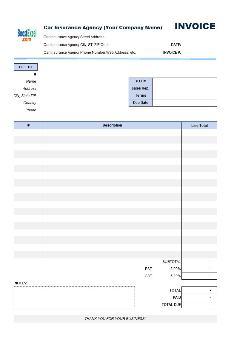 medical bill statement template
