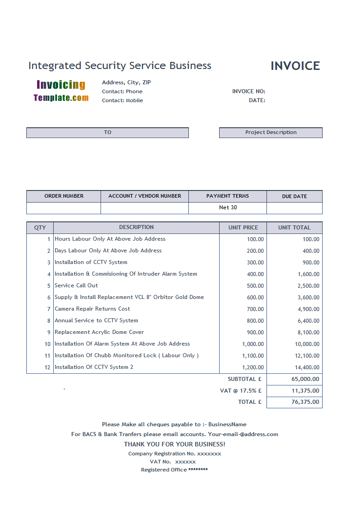 invoice generator uk