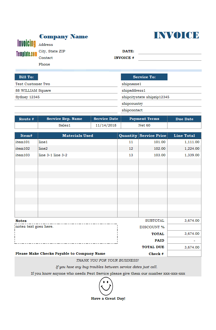 free excel invoice templates downloads