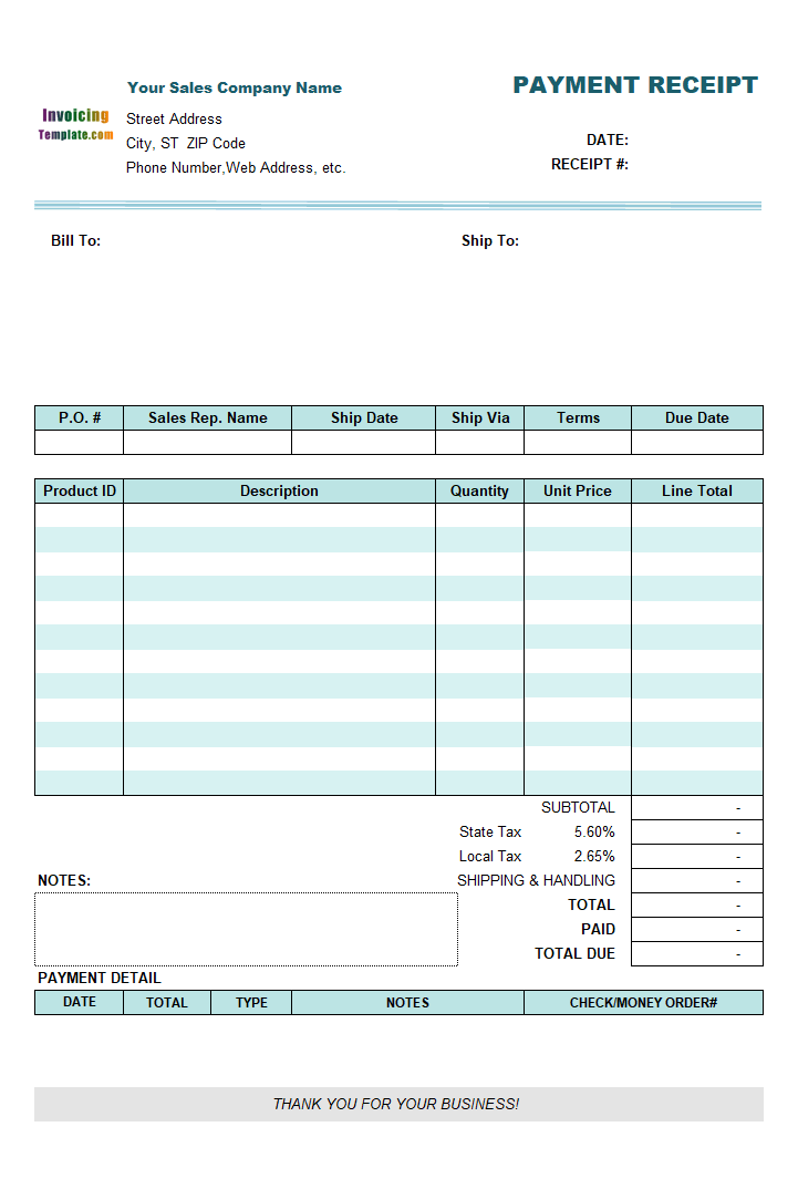 Freeware Files Free Download Page For Easy Invoice Payment Receipt Template