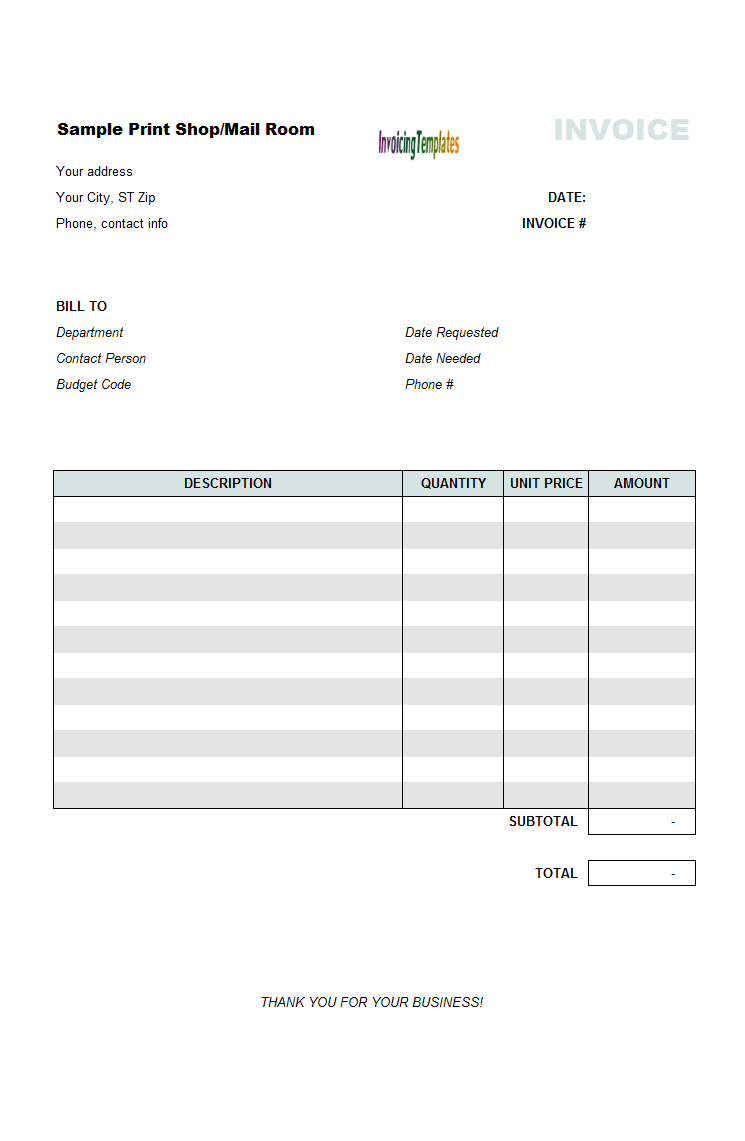 invoice outline