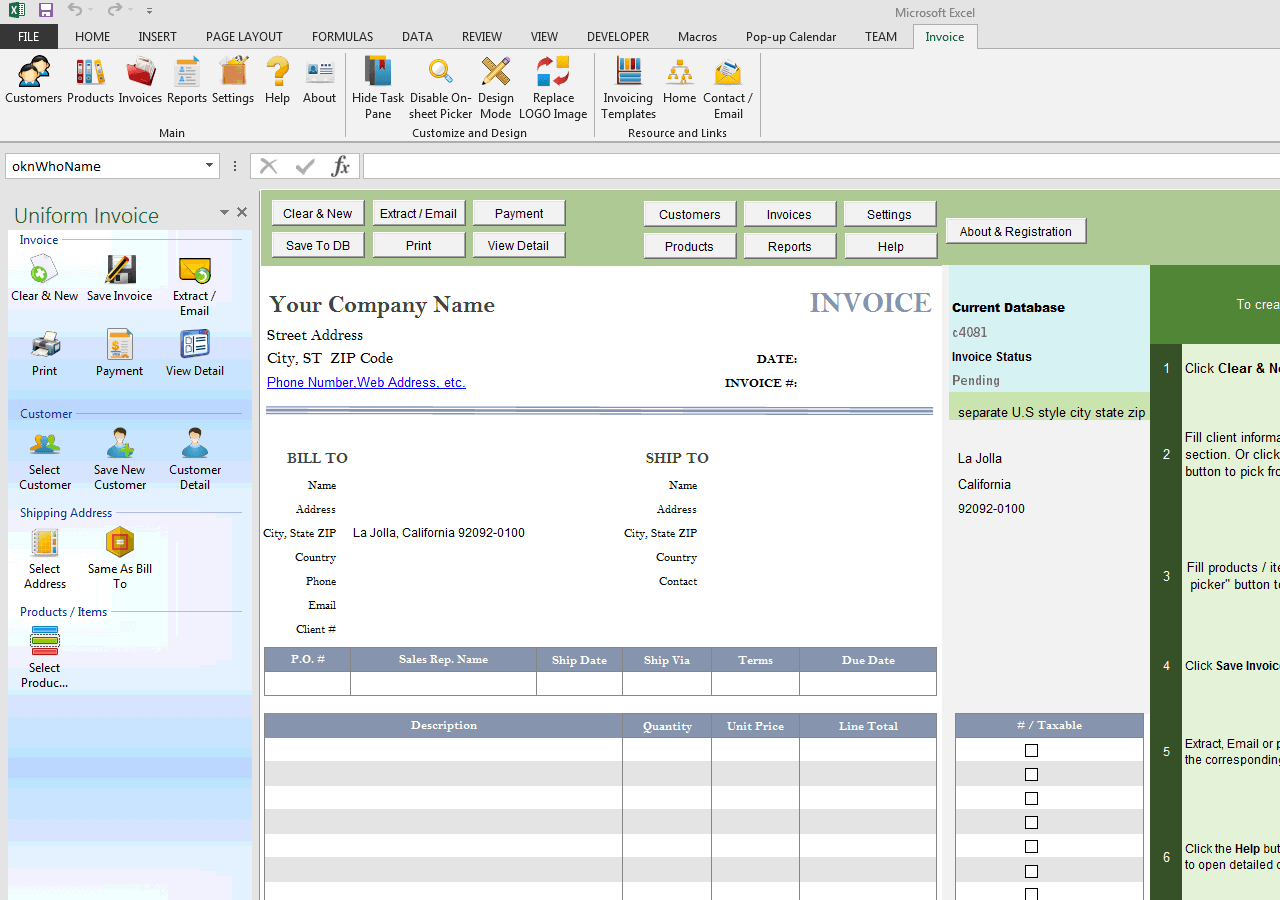 simple invoice package | application letter for fresh graduate for, Invoice templates