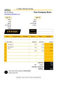 New Zealand Tax Invoice Template