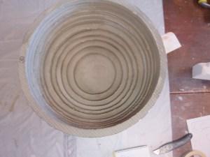Tadelakt wash basin initial shape