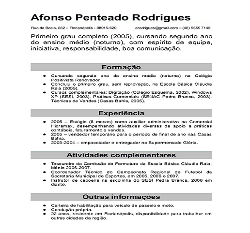 Curriculum vitae simples para preencher word Rubbish-tappinggq