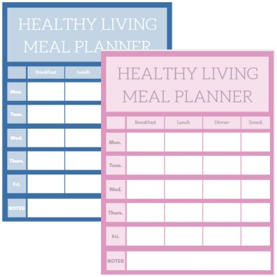 Healthy Living Lifestyle Simple Meal Plan - I Only Came ...