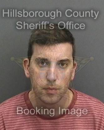 Booking photo of Justin Garrett (Photo by Hillsborough County Sheriff's Office)