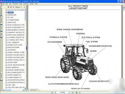 Kubota L3830DT 4X4 tractor parts manual