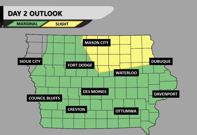 Day 2 Severe Weather Iowa Outlook
