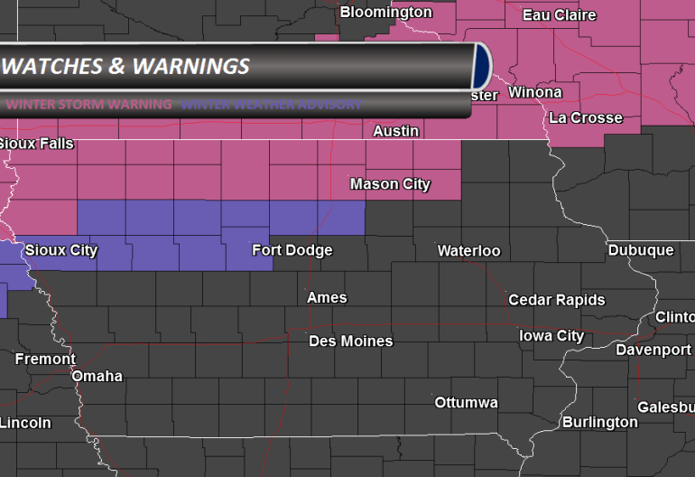 Iowa Winter Storm Warning