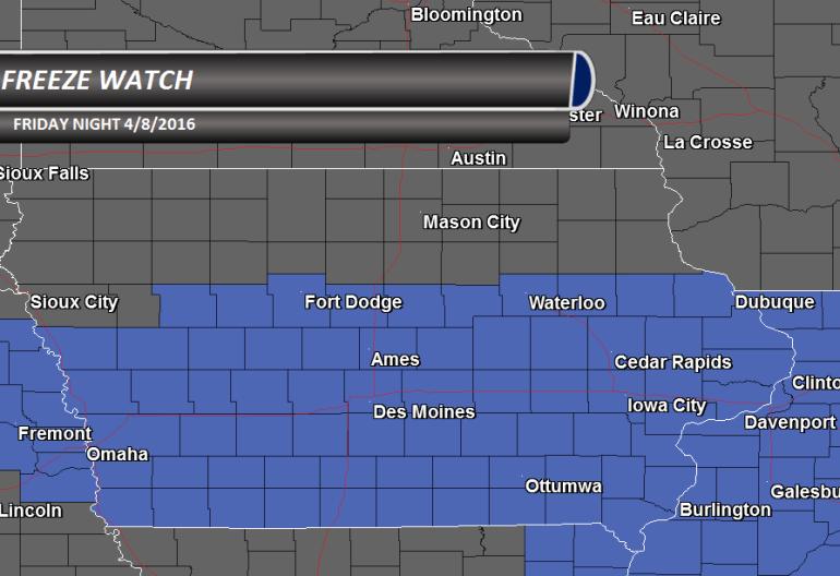 Iowa Freeze Watch