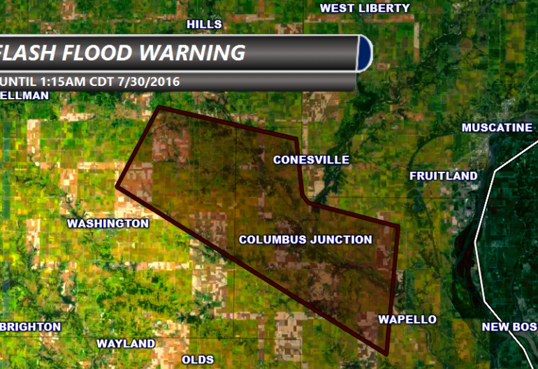 Iowa Flash Flood Warning