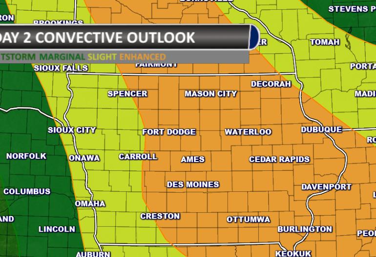 Thursday Severe Weather Outlook Iowa
