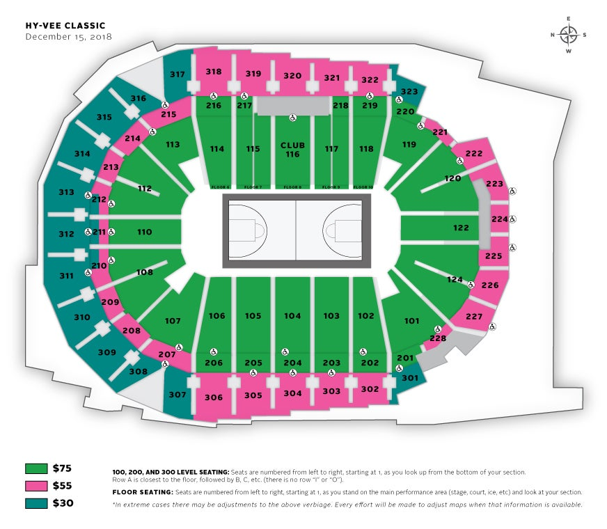 Seating Charts Iowa Events Center