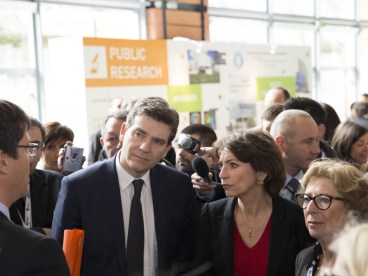 Three French ministers at Biovision (from left to right): Montebourg, Touraine and Fioraso. (Photo Credit: Pierre Jayet)