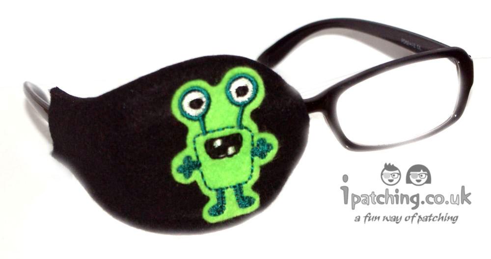 Alien_On_Black_Plastic_Frame_Orthoptic_Eye_Patch_