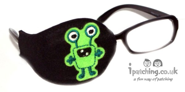 Alien_On_Black_Plastic_Frame_Orthoptic_Eye_Patch_