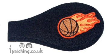 Basketball_on_Black_Plastic_Frame_Orthoptic_Eye_Patch